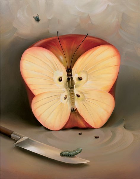 Яблоко-бабочка