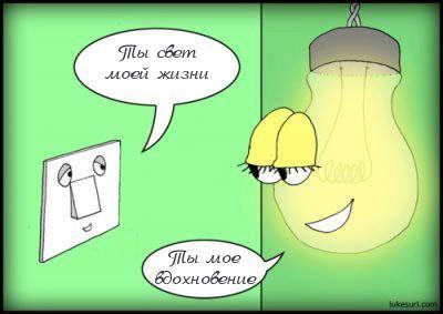 Лампочка и выключатель