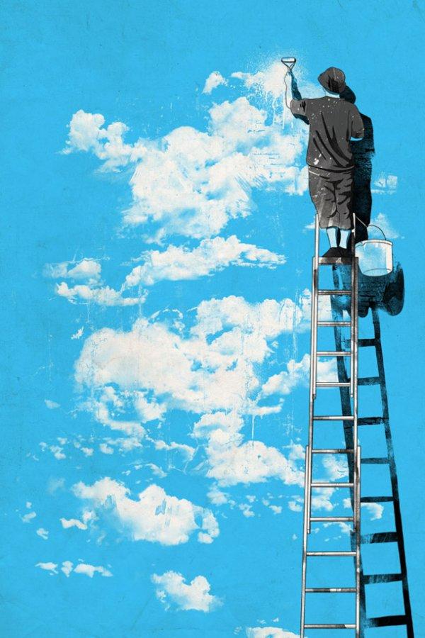 Нарисовать облака