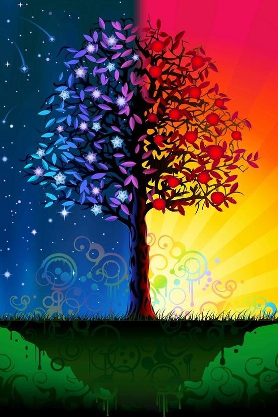 Дерево - День и ночь