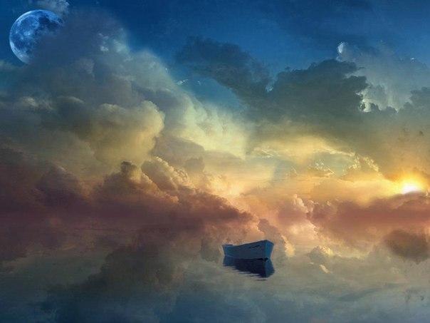Лодка в облаках