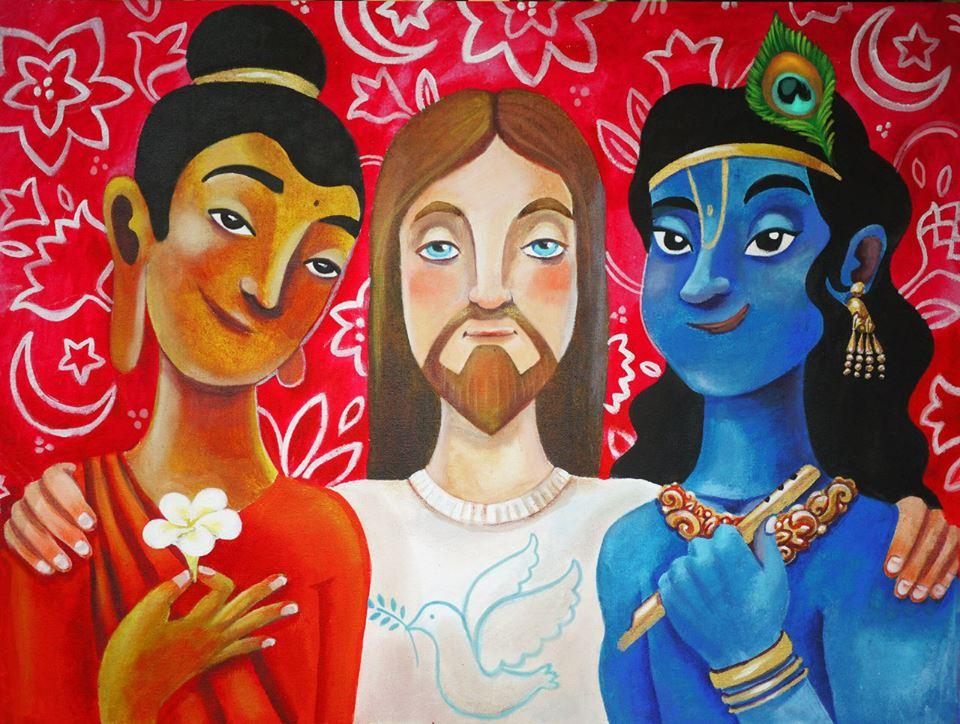Будда Иссус и Кришна