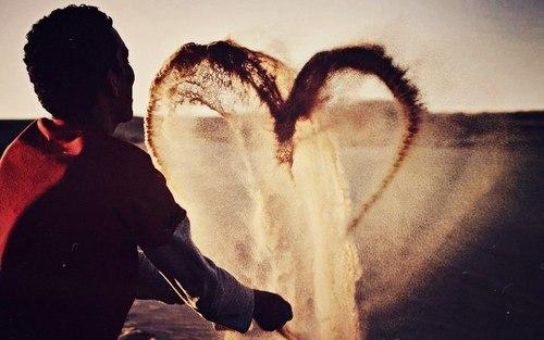 Сердце из песка