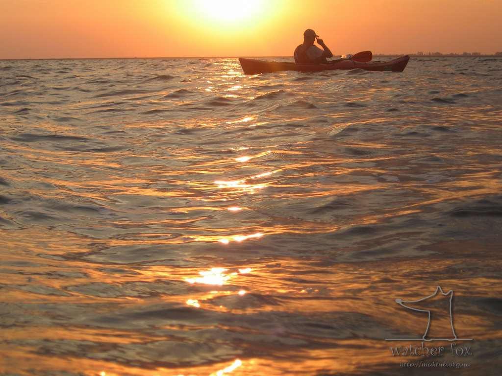 Закат на озере Кугурлуй