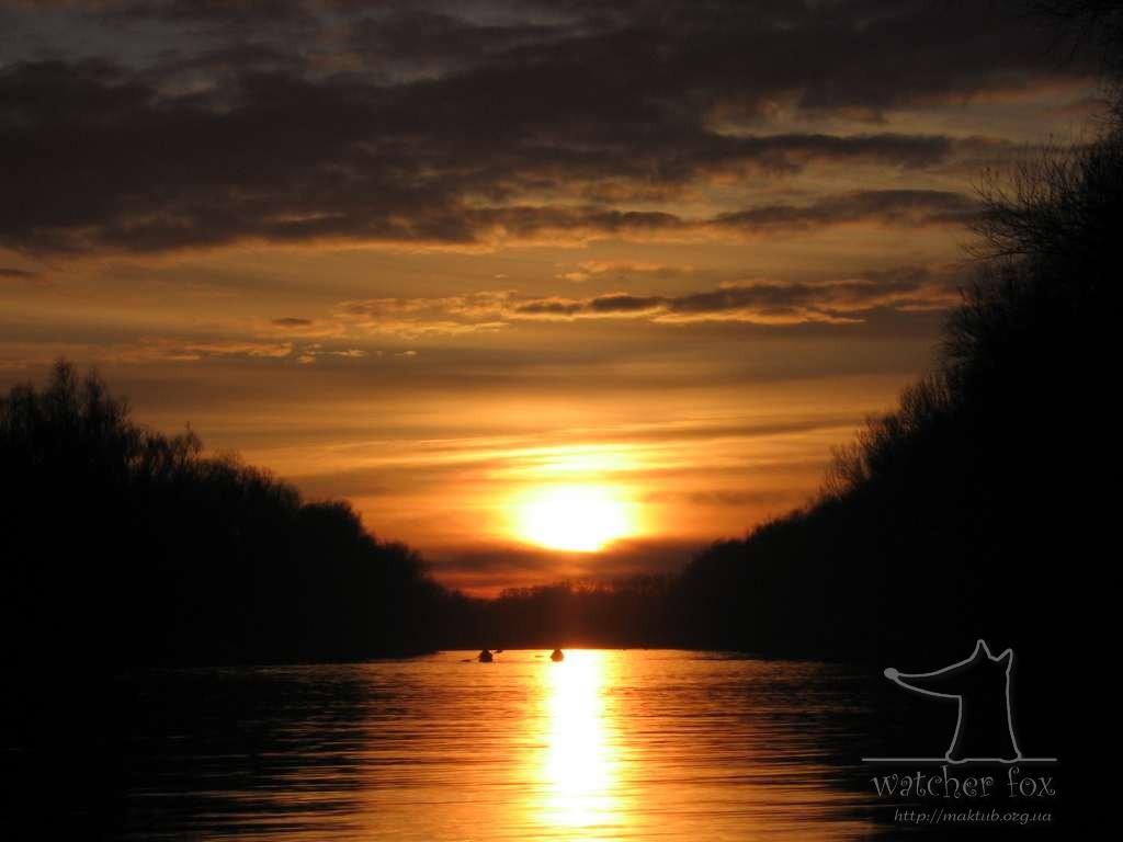 Закат на Дунае