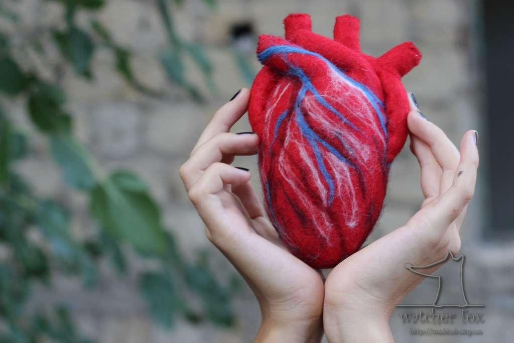 Сердце из текстиля