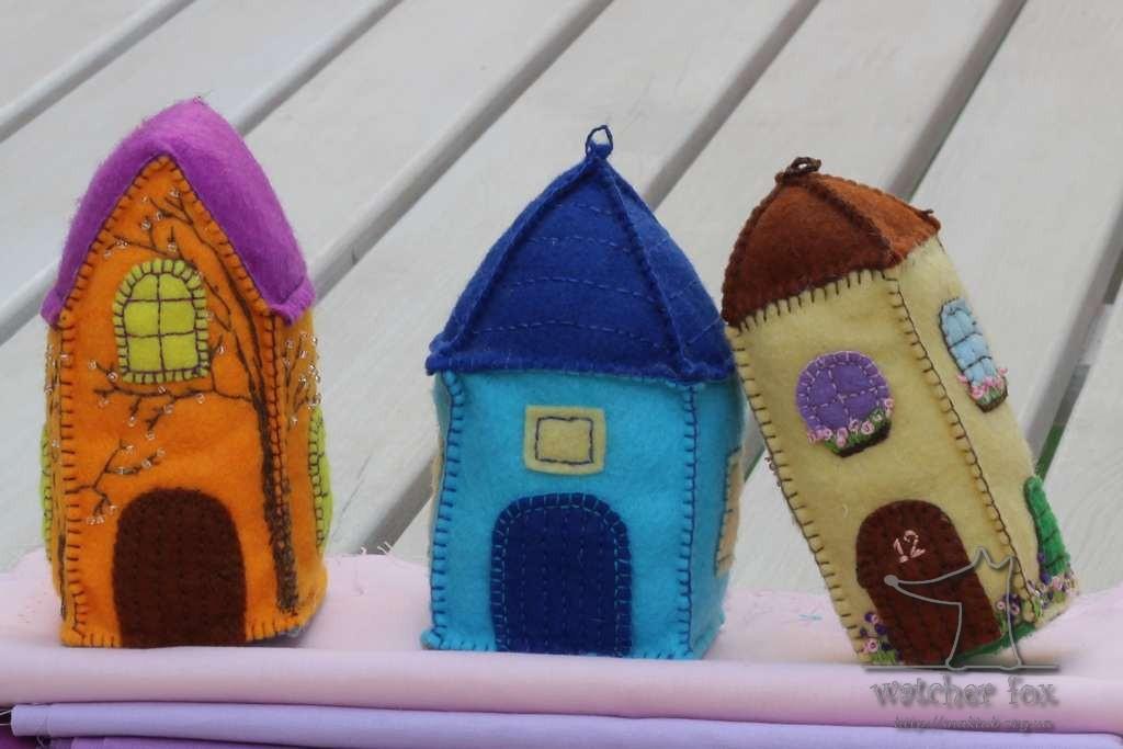 Фетровые домики
