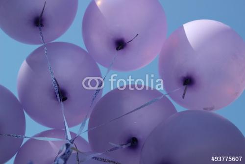 Фиолетовые воздушные шарики