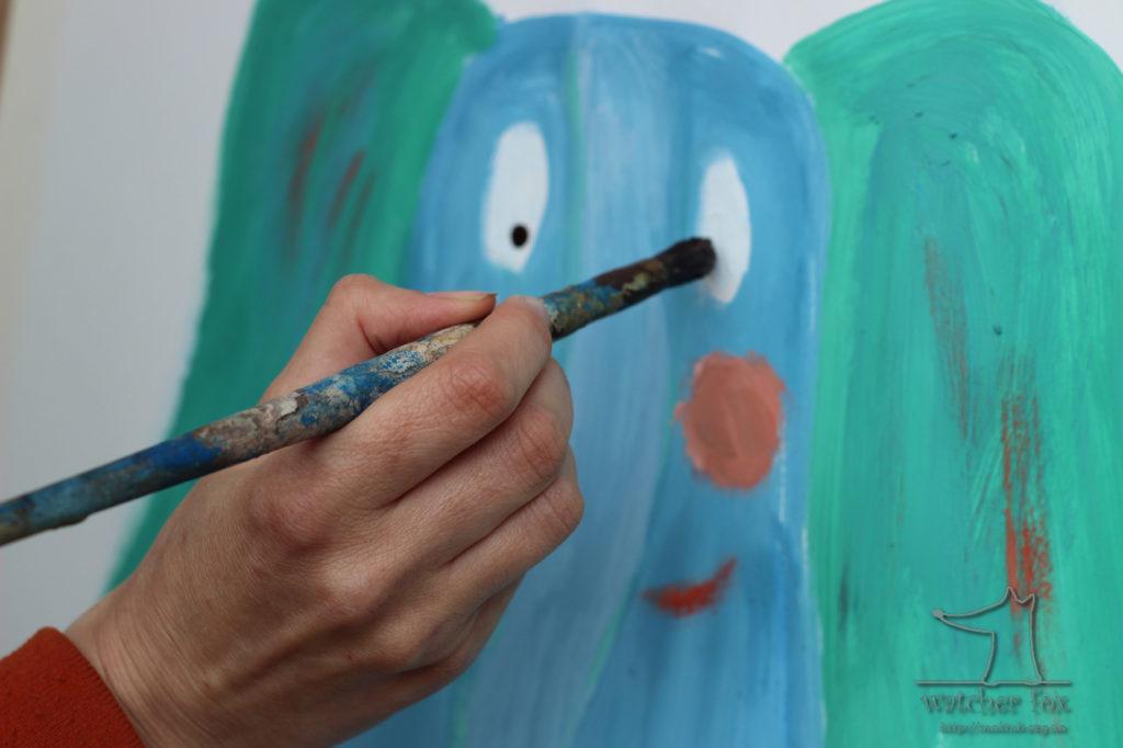 Рисунок голубого слона