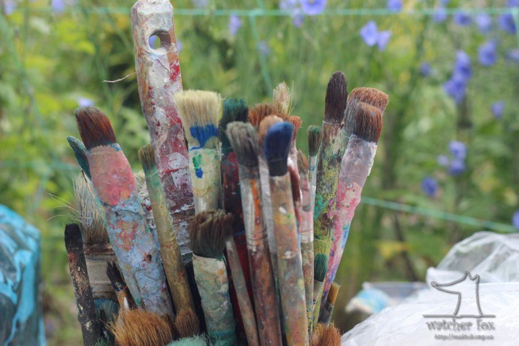 Кисти для рисования в красках